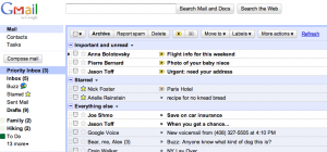 Screenshot von Priority Inbox in Gmail
