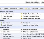 Screenshot von Priority Inbox in Gmail