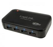 LogiLink 4-Port Hub USB 3.0 mit Netzteil